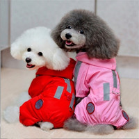 Pet Rainwear Dog Raincoat Hoodie Hooded Waterproof Pet Clothes Apparel Red XS/S/M/L/XL  H9859 = 1931557444