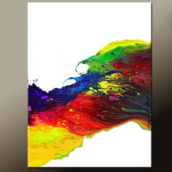 Abstract Canvas Art Print Contemporary Abstract Art by Destiny Womack - Riding the Wave - dWo