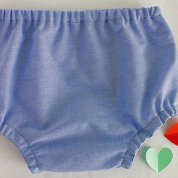Basic baby boy / girl diaper cover, Handmade of 100% cotton plain fabric in Blue. Baby boy coming home outfit, Take home outfit