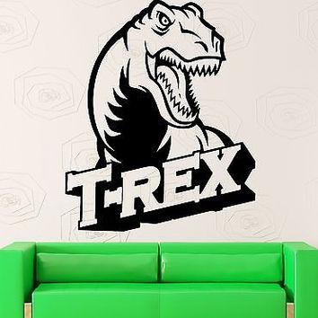 Wall Sticker Vinyl Decal Dinosaur for Kids Room Nursery T-Rex (ig2028)