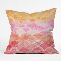 Cori Dantini Warm Spectrum Rainbow Throw Pillow