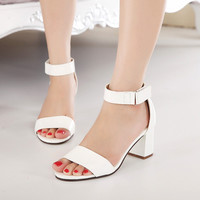 Beautiful Sandal Style Ankle Strap Chunky Heels