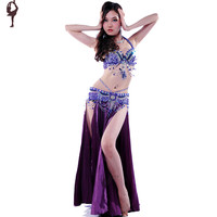 2015 Belly Dance Costume Set Bra&Belt&Skirt Bellydance Costume 8 Colors Belly Dancer Costume Professional Indian Clothes India