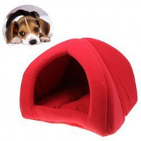Excellent Foldable Soft Pet Tent Indoor Outdoor Safety House Bed for Puppy Cat Rabbit - Red China Wholesale - Everbuying.com