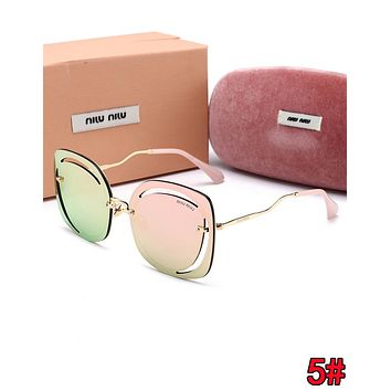 Miu Miu Summer Hot Sale Women Casual Shades Eyeglasses Glasses Sunglasses 5#