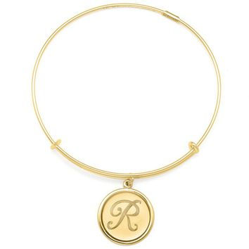Alex and Ani Precious Initial R Charm Bangle - 14kt Gold Filled