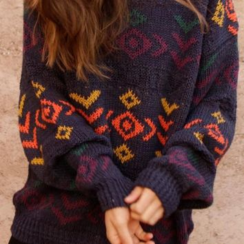 SALE ($14.99) Funky Pattern OverSized Mystery Sweaters - 1985 Style Sweater: All Hipster  & Grunge Colors!