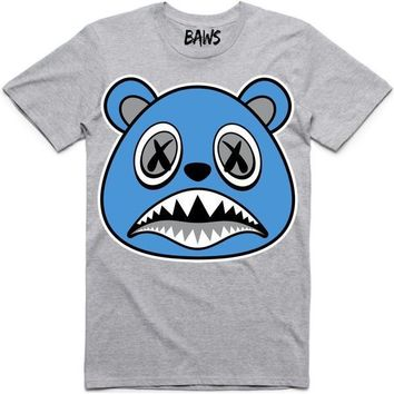 UNC BAWS Athletic Heather Grey Sneaker Tees Shirt