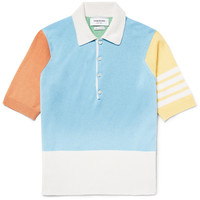 Thom Browne - Colour-Block Cashmere Polo Shirt