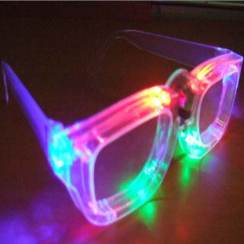 LED Lightning Stylish Glasses Creative Gifts Sunglasses [4915331076]