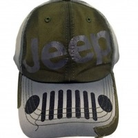 Jeep Distressed Grille Cap | Hats & Caps | Jeep Apparel | My Jeep Accessories