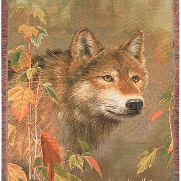 Majestic Wolf Throw Blanket - Made In The Usa