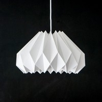 Crocus White - Origami Paper Lampshade from Colin Cobb Design | Made By Colin Cobb | £49.00 | BOUF