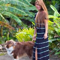 Tiare Hawaii Uluwatu Dress Black/White Tie Dye