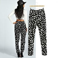 Geometric Patterns Pencil Pants