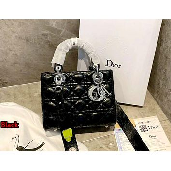 Dior 2019 new women's fashion wild chain shoulder messenger bag Black