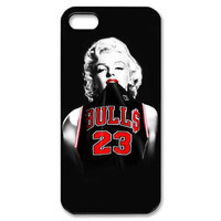 Marilyn Monroe Chicago Bulls Michael Jordan 23 Jersey for Iphone 4 4s 5 5s 5c 6 6s 6plus 6s plus Slim-fit Case Celebs