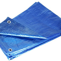 Grizzly Tarps GTRP57 5 x 7-Feet Blue Multi-Purpose 6-Mil Waterproof Poly Tarp Cover Tent Shelter Camping Tarpaulin