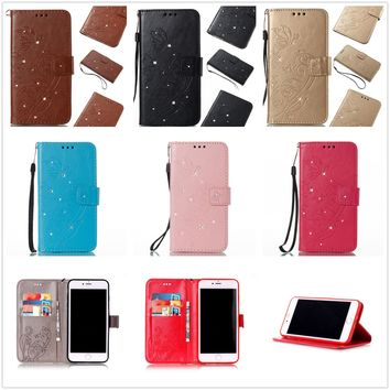Leather Holder Wallet Flip Phone Case Cover for Samsung Galaxy/Huwei/LG/iPhone X