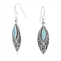 Bling Jewelry Turquoise Oval Drops