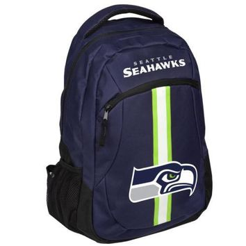 * Seattle Seahakws Action Backpack Back Pack School Book Gym Bag