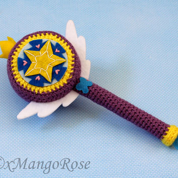 Star's Royal Magic Wand (Crochet Pattern Only, Instant Digital Download) Star vs. the Forces of Evil