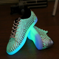 LED Shoes Light Up Sneaker with USB Charger for Adults
