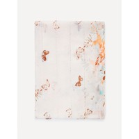 Multicolor Butterfly Print Light Scarf
