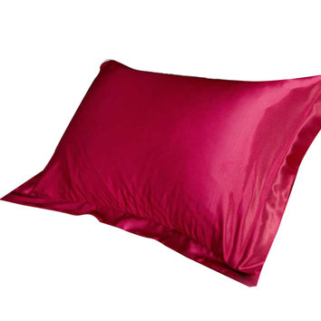 47x70cm Silk Satin Pillow Cover Throw Pillow Covers Decorative 8 color silk simulation of pure silk single pillowcases