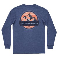 Branding Collection - Summit Long Sleeve Tee in Washed Navy by Southern Marsh - FINAL SALE
