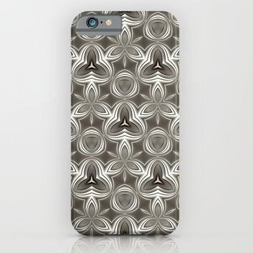Abstract Grey Metallic Pattern iPhone & iPod Case by Cinema4design