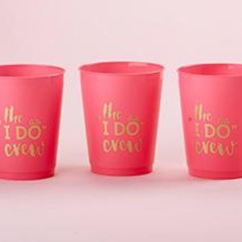 I Do Crew 14 oz. Stadium Cups (Set of 12)