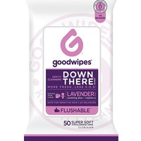 GoodWipes Down there Wipes for Women, Feminine Wipes, 50 Piece