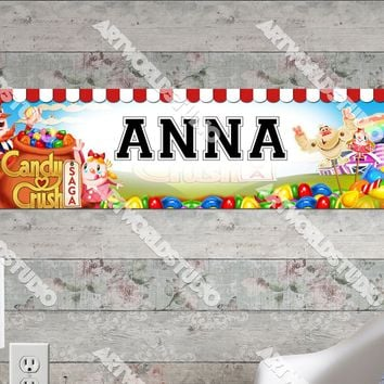Personalized/Customized Candy Crush Poster, Border Mat and Frame Options Banner 333