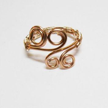 Toe Ring, Big Toe Ring, Big Toering, Copper Toe Ring, Wrapped Toe ring, Barefoot Jewelry, toe Jewelry