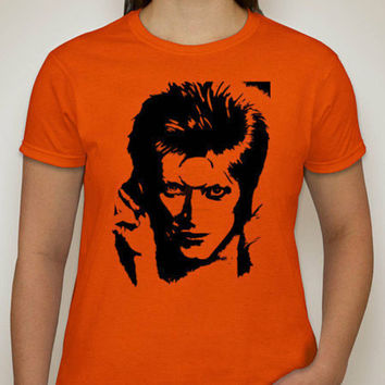 DAVID BOWIE - Ziggy Stardust - Classic Rock Innovator Tee - British Pop Star / Rock Star / Glamour Rock Musician and Legend