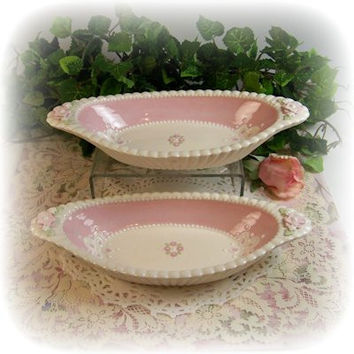 Pink Hankie Serving Dishes