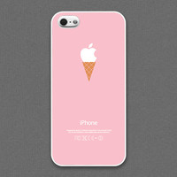 iPhone 4 / 4s / 5 / 5s Case - Ice cream cone on Pink, iPhone Case, iPhone5 Case, Cases for iPhone5, iPhone5s Case, Cases for iPhone5s