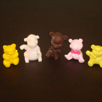 Vintage Toy Lot of 4 Bears and 1 Pig 5 Total