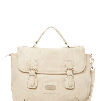 See by Chloe Women's Double Buckle Leather Satchel - Cream/Tan