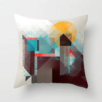 Cubist Mountain Pillow