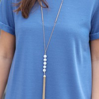 Marble Tassel Necklace