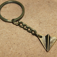 Harry styles one direction Paper Airplanes keychain antique jewelry steampunk gift