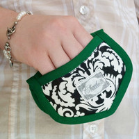 Deluxe Mini Finger Pot holders Hot Pads Emerald Green