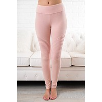 Scorpio Moto Leggings (Blush)