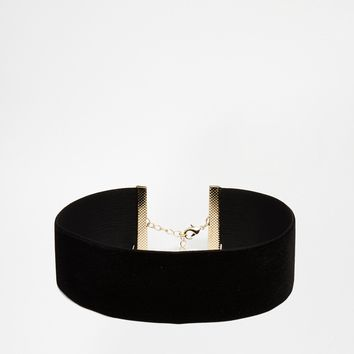 ASOS NIGHT Velvet Choker Necklace at asos.com