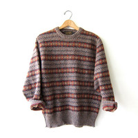 Vintage Wool Sweater. Wool Pullover. Preppy Eddie Bauer Sweater
