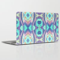 Abstract blue Peacock pattern Laptop & iPad Skin by ArtLovePassion
