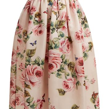 Rose and butterfly-print silk-organza skirt | Dolce & Gabbana | MATCHESFASHION.COM UK