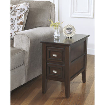 T654-7 Larimer Chair Side End Table - Dark Brown - Free Shipping!